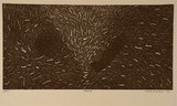 Artist: PUGLIELLI, Emidio | Title: Oceans II | Date: 1992, April | Technique: etching, printed in black ink with plate-tone, from one plate