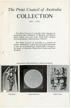 <p>Imprint [Journal of the Print Council of Australia], volume 08, number 3, 1973.</p>