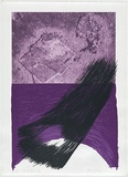 Artist: MEYER, Bill | Title: Kabbalistic gap | Date: 1981 | Technique: screenprint, printed in purple and blue ink, from five stencils | Copyright: © Bill Meyer