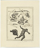 Artist: SELLBACH, Udo | Title: (Jigsaw of bodies) | Date: 1965 | Technique: etching and aquatint printed in black ink, from one plate