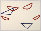Artist: ROONEY, Robert | Title: JCV9 | Date: 2002, April - May | Technique: lithograph, printed in red and blue ink | Copyright: Courtesy of Tolarno Galleries