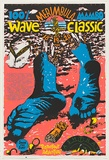 Artist: WORSTEAD, Paul | Title: 100% Mambo Merimbula wave classic | Date: 1986 | Technique: screenprint, printed in colour, from four stencils | Copyright: This work appears on screen courtesy of the artist