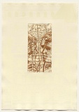 Artist: DUNN, Richard | Title: 100 Blossoms: Five prisons III. | Date: 1988 | Technique: etching and lift-ground aquatint and screenprint