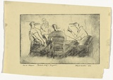 Artist: McCULLOCH, Alan | Title: Card players | Date: 1936 | Technique: drypoint printed with plate-tone