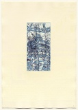 Artist: DUNN, Richard | Title: 100 Blossoms: Five prisons I. | Date: 1988 | Technique: etching and lift-ground aquatint and screenprint