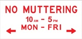 <p>No muttering: An exhibition of contemporary print.</p>