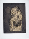 Artist: NORRIE, Susan | Title: Untitled | Date: 1988, June | Technique: etching and aquatint, printed in black and ochre ink, from one steel plate