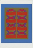 Artist: HARDY, Cecil | Title: Cantle structure | Date: 1970 | Technique: screenprint, printed in colour, from five stencils