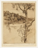 Artist: URE SMITH, Sydney | Title: Musgrave Street from Cremorne. | Date: 1916 | Technique: etching, printed in brown ink with plate-tone, from one copper plate