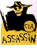 Artist: GIBB, Jillian Viva | Title: C.I.A. assassin | Date: 1974 | Technique: screenprint, printed in colour, from two stencils
