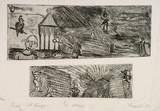 Artist: SHEARER, Mitzi | Title: Oh, what a circus! | Date: 1980-87 | Technique: etching, printed in black ink with plate-tone, from two  plates