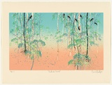 Artist: HADLEY, Basil | Title: Kakadu scrub. | Date: 1989 | Technique: screenprint, printed in colour, from seven stencils