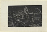 Artist: JACK, Kenneth | Title: Captain Blair's house, Portland | Date: 1954 | Technique: line-engraving, printed in relief in black ink, from one copper plate | Copyright: © Kenneth Jack. Licensed by VISCOPY, Australia