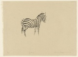 Artist: MACQUEEN, Mary | Title: Zebra | Date: 1967 | Technique: lithograph, printed in black ink, from one plate | Copyright: Courtesy Paulette Calhoun, for the estate of Mary Macqueen