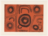 Artist: NERRIMAH, Jimmy | Title: Untitled | Date: 2001 | Technique: lithograph, printed in colour, from two aluminum plates