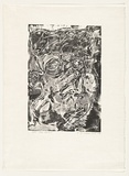 Artist: CHAMBERS, Douglas | Title: OK head. | Date: 1984 | Technique: linocut, printed in black ink from one block