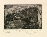 Artist: CILENTO, Margaret | Title: Eagle feeding. | Date: 1950 | Technique: etching and aquatint, printed in black ink, from one plate
