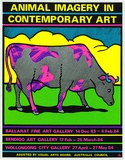 Artist: REDBACK GRAPHIX | Title: Animal imagery in contemporary art. | Date: 1983, before 14 December | Technique: screenprint, printed in colour, from five stencils | Copyright: © Michael Callaghan