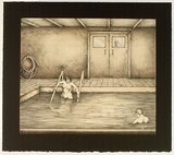Artist: RICHARDSON, Berris | Title: Ojo Calliente. Interior II | Date: 1983 | Technique: lithograph, printed in colour, from three stones [or plates]