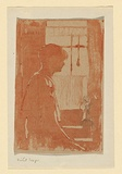 Artist: TEAGUE, Violet | Title: Jean | Date: c.1904 | Technique: woodcut, printed in sepia ink, from one block