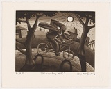 Artist: MOMBASSA, Reg | Title: Observatory Hill | Date: 2006 | Technique: etching and aquatint, printed in sepia ink, from one plate