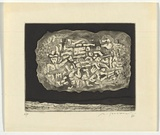Artist: SELLBACH, Udo | Title: (Jigsaw) | Date: 1964 | Technique: etching and aquatint printed in black ink, from one plate