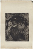 Artist: NOLAN, Sidney | Title: Carcass | Date: 1958 | Technique: etching and aquatint, printed in black ink, from one plate