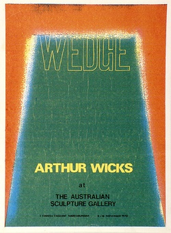 Artist: WICKS, Arthur | Title: Wedge - exhibition poster | Date: 1970 | Technique: screenprint