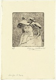 Artist: WALKER, Murray | Title: Jennifer is tense | Date: 1965 | Technique: etching, printed in black ink, from one plate
