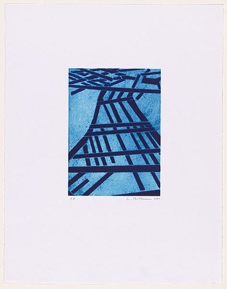Artist: FORTHUN, Louise | Title: Jacob's ladder (blue). | Date: 2001 | Technique: etching and aquatint, printed in blue ink, from one copper plate