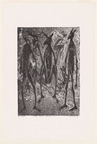 Artist: HAYWARD POOARAAR, Bevan | Title: Yongas (Kangaroos) Spiritual Concerns | Date: 1988 | Technique: lithograph