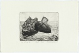 Artist: ANCESCHI, Eros | Title: Eagle rock | Date: 1986 | Technique: aquatint, printed in black ink, from one plate