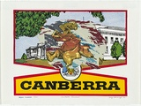 Artist: MONCRIEFF, Greg | Title: Canberra souvenir | Date: 1980 | Technique: screenprint, printed in colour, from multiple stencils | Copyright: © Greg Moncrieff