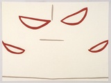 Artist: ROONEY, Robert | Title: JCV2 | Date: 2002, April - May | Technique: lithograph, printed in red and grey ink | Copyright: Courtesy of Tolarno Galleries