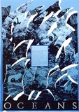 Artist: ARNOLD, Raymond | Title: Oceans. Ruth Gall-Bucher 1986 (artist in residence at the C.S.I.R.O. Marine Laboratories, Hobart). | Date: 1986 | Technique: screenprint, printed in colour, from five stencils