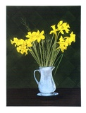 Artist: GRIFFITH, Pamela | Title: Daffodils. | Date: 1986 | Technique: hardground-etching and aquatint, printed in colour, from three copper plates | Copyright: © Pamela Griffith