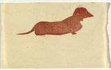 Artist: BELL, George | Title: (Dachshund). | Technique: linocut, printed in black ink, from one block